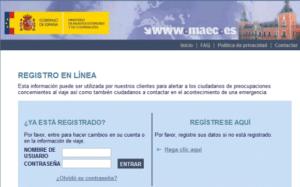 registro viajeros online