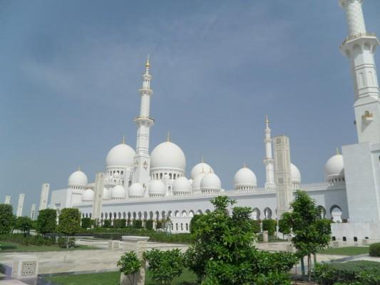 Mezquita de Sheik Zayed - Vista exterior
