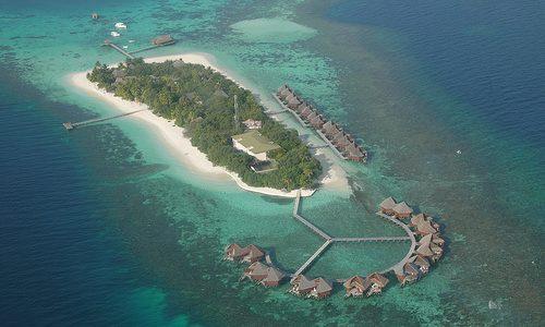 Islas diminutas en Maldivas