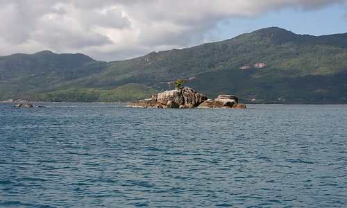 Un islote de película en Seychelles.