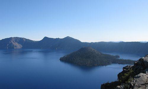Las islas del lago del cráter, en Estados Unidos