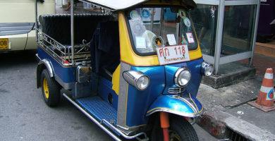 Tuk Tuk - viajar a Tailandia