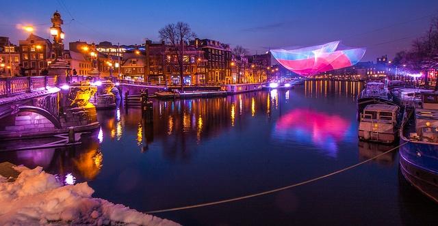 En diciembre el amsterdam light festival