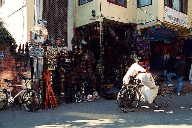 Barrio de Thammel en Katmandu