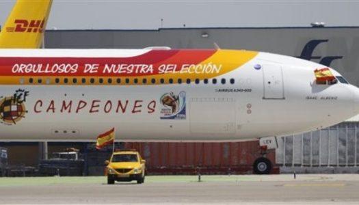 Iberia prepara un avión para la Selección Española de Fútbol