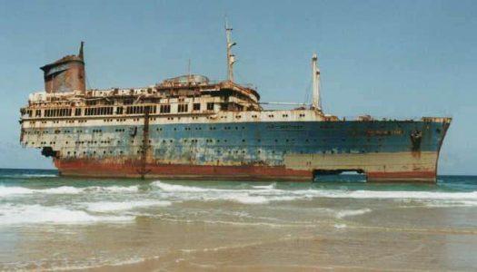 El Naufragio del SS America en Fuerteventura