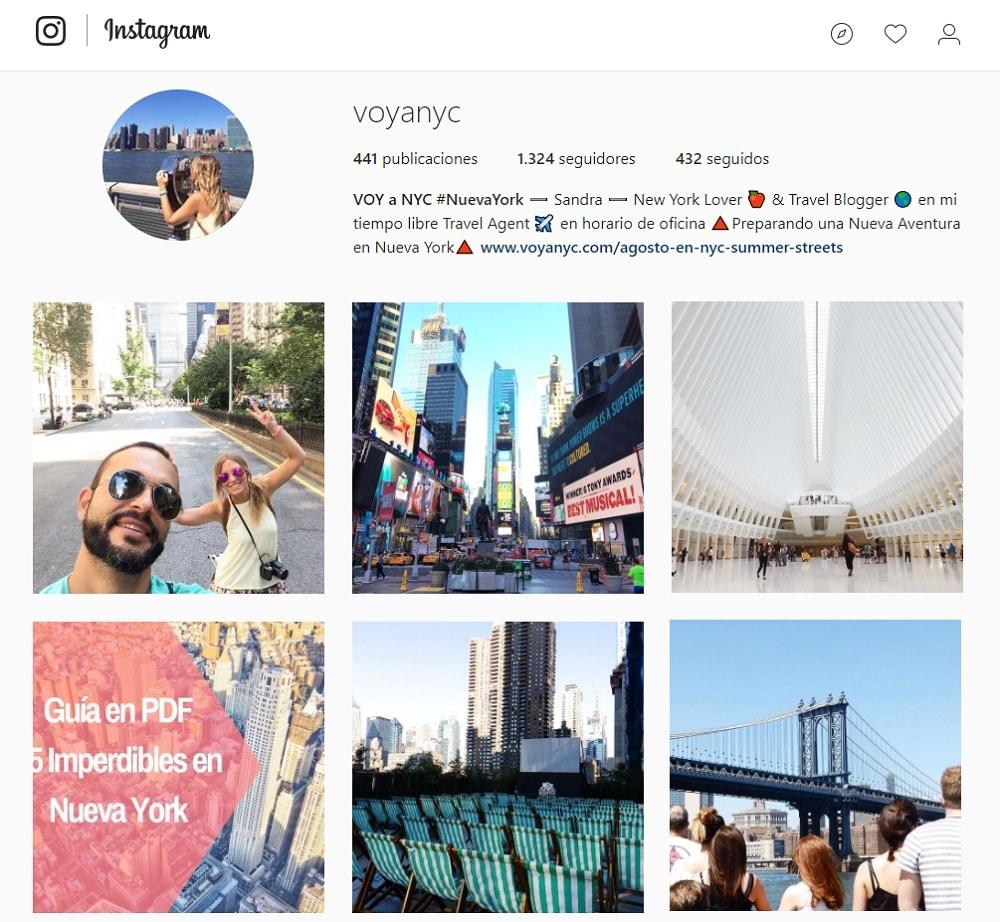 Instagram Voy a NYC
