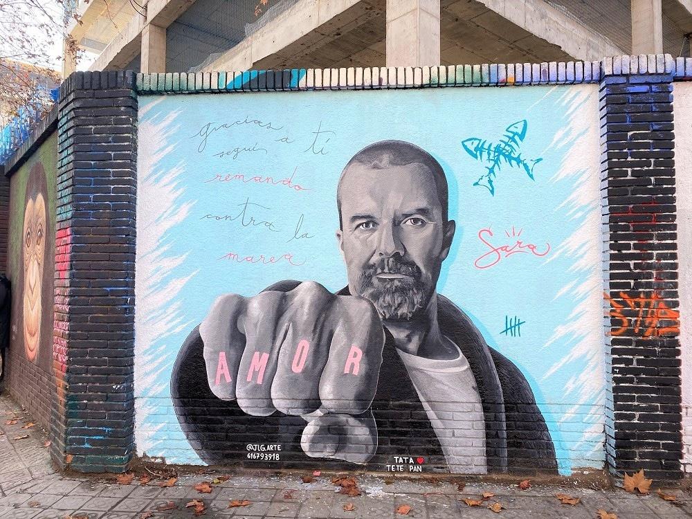 Mural Pau Donés en Barcelona