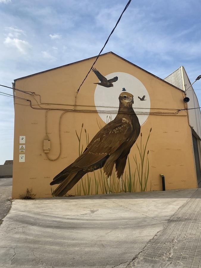 mural de aves de Ivars d'Urgell