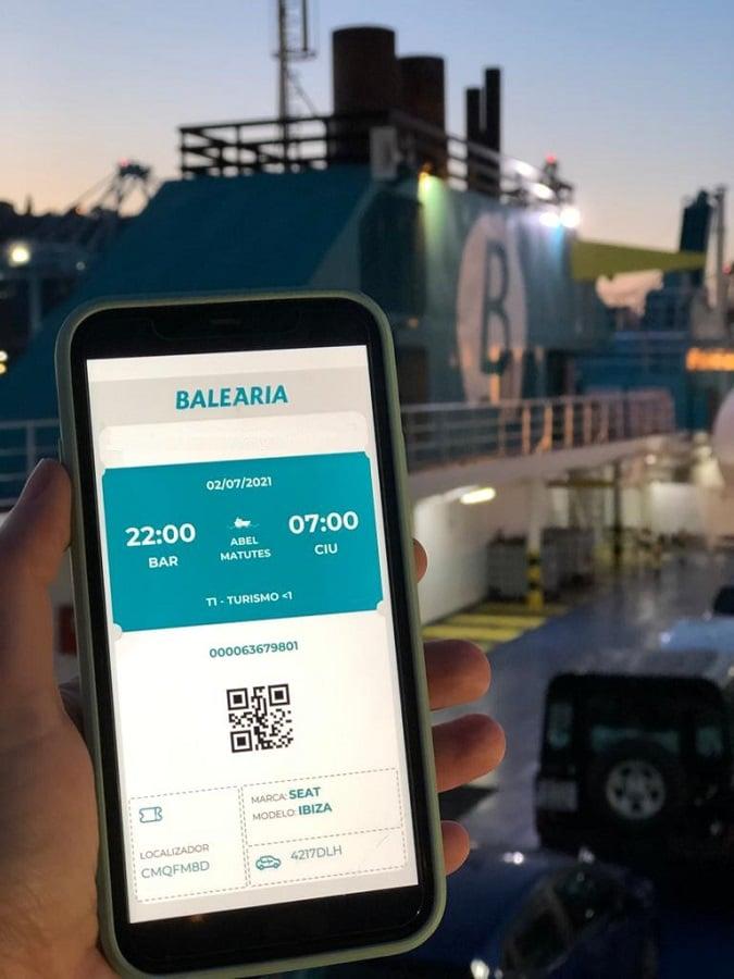 Ferry Menorca Balearia